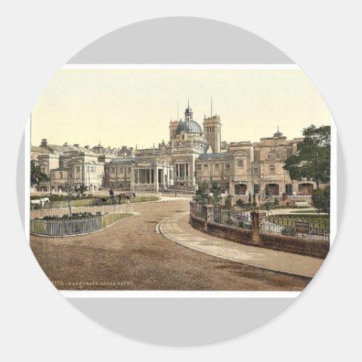 Royal Baths, Harrogate, England rare Photochrom Sticker