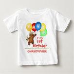 Royal Bear 1st Birthday Party Custom Baby T-Shirt