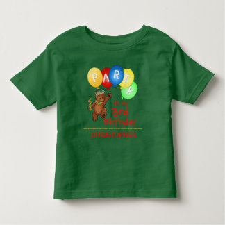 Royal Bear 3rd Birthday Party Custom T-shirt