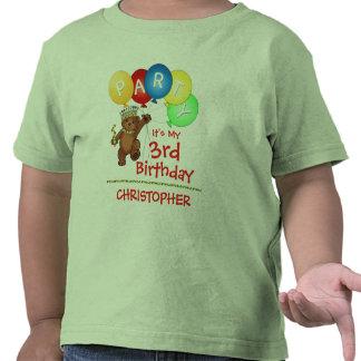 Royal Bear 3rd Birthday Party Custom T Shirts