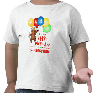 Royal Bear 4th Birthday Party Custom Tees