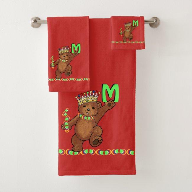 Royal Bear Crown Prince Custom Monogram
