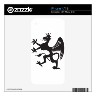 Royal Beast winged catbird iPhone 4S Skins