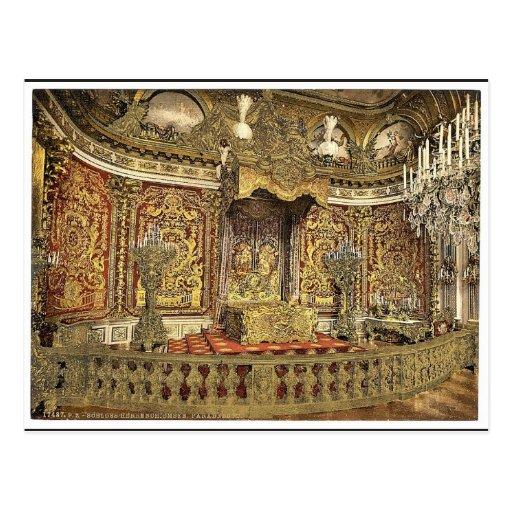 Royal bedroom, Herrenchiemsee Castle, Upper Bavari Postcards