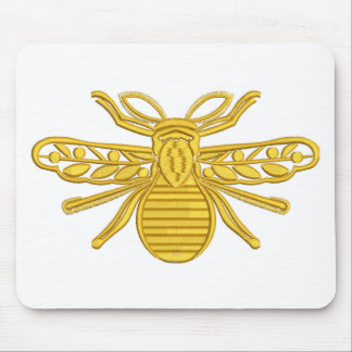 royal bee, imitation of embroidery mouse pad