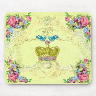 Royal Birds Floral Computer Mousepad
