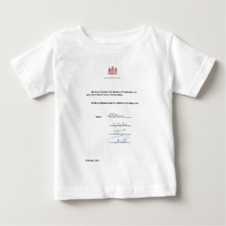 Royal Birth Announcement Baby T-Shirt