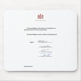 Royal Birth Announcement Mouse Pad