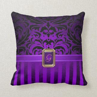 Black Purple Pillows - Decorative & Throw Pillows Zazzle