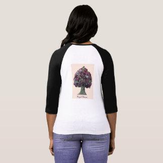 Royal Blossom Colored Rim T-Shirt
