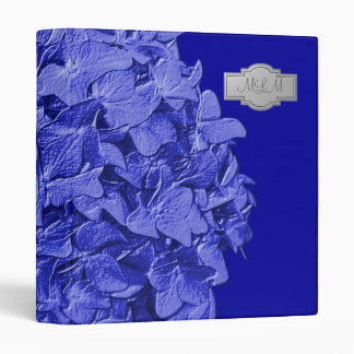 Royal Blue 3D Hydrangea Monogram Photo Binder
