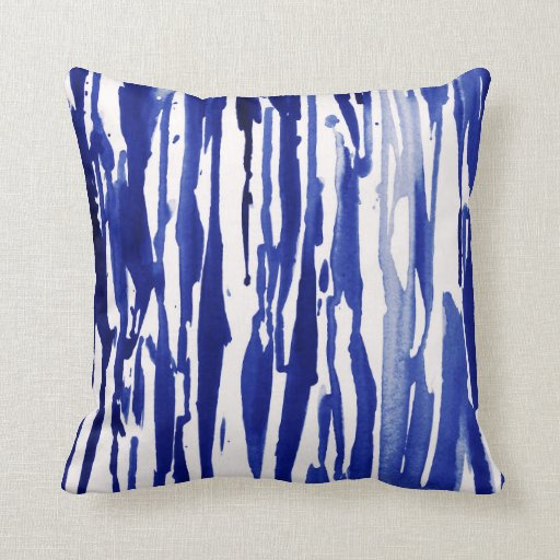 Royal blue abstract stripes throw pillow zazzle for Royal blue couch pillows