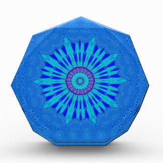 Royal blue acrylic award