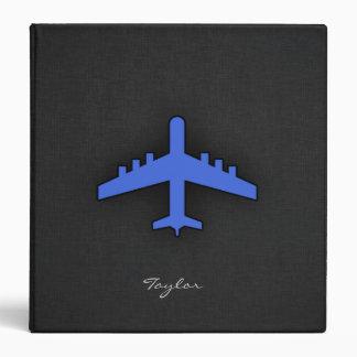 Royal Blue Airplane 3 Ring Binder