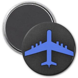 Royal Blue Airplane Refrigerator Magnets