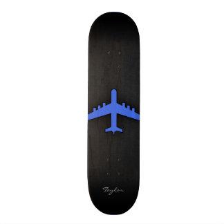 Royal Blue Airplane Skateboard Deck