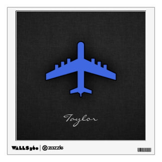 Royal Blue Airplane Wall Graphics
