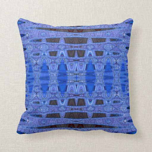 Royal blue and black abstract throw pillows zazzle for Royal blue couch pillows