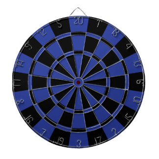 Royal Blue And Black Dart Board