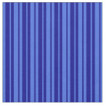[ Thumbnail: Royal Blue and Dark Blue Striped Pattern Fabric ]