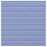 [ Thumbnail: Royal Blue and Dark Gray Stripes Pattern Fabric ]