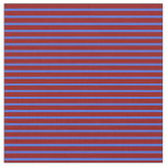 [ Thumbnail: Royal Blue and Dark Red Colored Stripes Fabric ]
