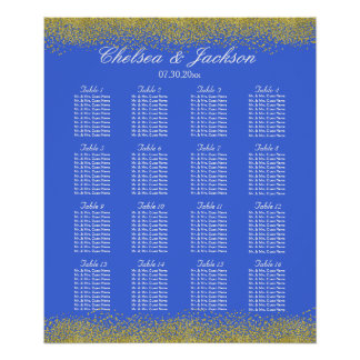 Royal Blue and Gold - 16 Seating Chart
