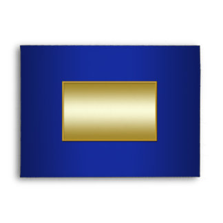 Royal Blue and Gold Envelope for 5x7 Sizes