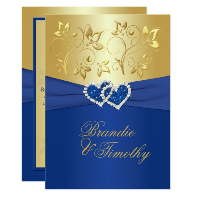 Blue And Gold Wedding Invitations 031 - Blue And Gold Wedding Invitations