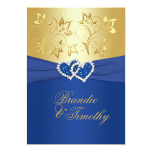 Royal Blue Flowers Wedding Invitations Zazzle