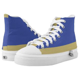 Royal Blue and Gold Low-Stripe Hi-Top