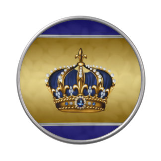 Royal Blue and Gold Prince Baby Shower Candy Tins