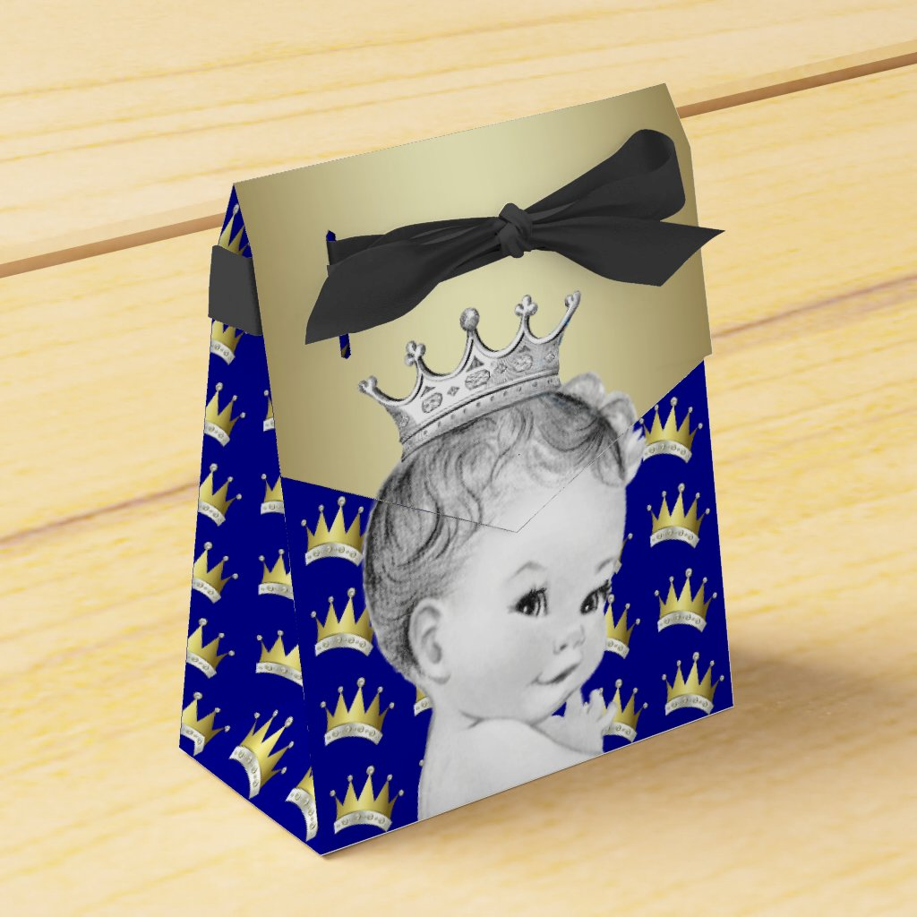 Royal Blue and Gold Prince Baby Shower