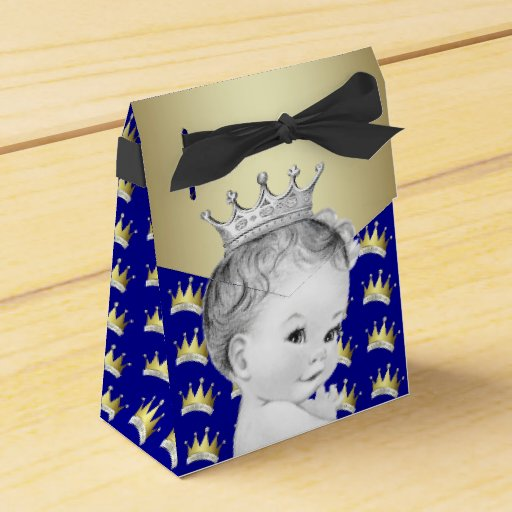 royal blue and gold prince baby shower wedding favor boxes zazzle