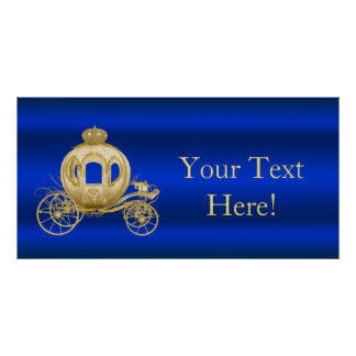 Royal Blue and Gold Prince Baby Shower Poster