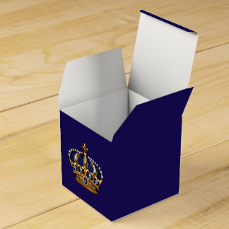Royal Blue and Gold Prince Crown Favor Box