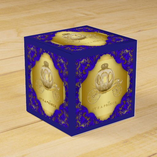 Blue Lightning Favor Boxes : Royal blue and gold prince favor box zazzle