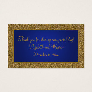 Royal Blue and Gold Wedding Favor Tag