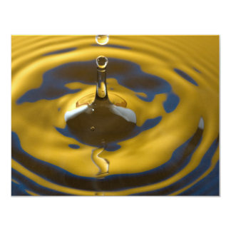Royal blue and Golden Yellow Water Drop Card
