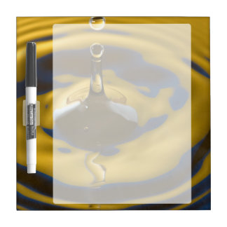 Royal blue and Golden Yellow Water Drop Dry Erase Whiteboards