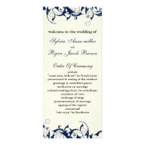 royal blue and ivory Wedding program