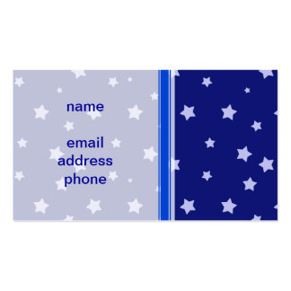 Royal Blue and Light Blue Star Pattern Business Card
