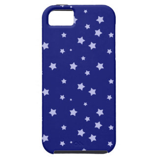 Royal Blue and Light Blue Star Pattern iPhone 5 Covers