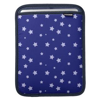 Royal Blue and Light Blue Star Pattern iPad Sleeve
