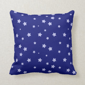 Royal Blue and Light Blue Star Pattern Throw Pillows