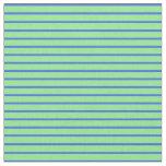 [ Thumbnail: Royal Blue and Light Green Pattern Fabric ]