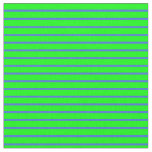 [ Thumbnail: Royal Blue and Lime Colored Stripes Pattern Fabric ]