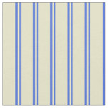 [ Thumbnail: Royal Blue and Pale Goldenrod Pattern Fabric ]
