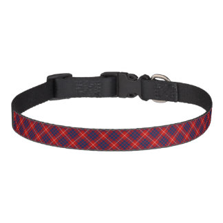 Royal Blue and Red Hamilton Clan Scottish Plaid Pet Collar