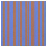 [ Thumbnail: Royal Blue and Sienna Stripes/Lines Pattern Fabric ]